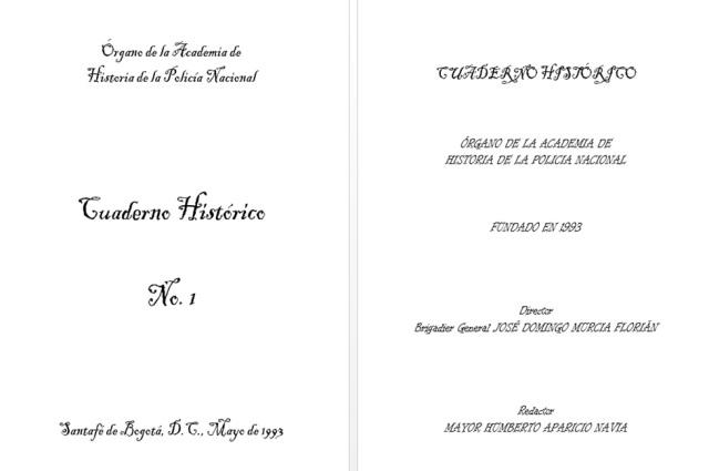 CUADERNO HISTORICO No. 1